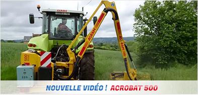 Nouvelle vidéo épareuse Acrobat 500
