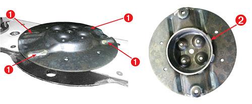 Disques carbure de faucheuse pendulaire