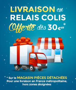 Livraison en relais colis offerte pour une commande magasin pièces en France métropolitaine hors zones éloignées
