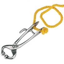 Mouchette en acier nickelé  avec corde