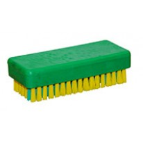 Brosse à main avec picot jaune/vert