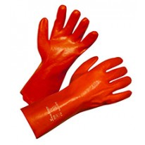 Gants de protection PVC 35cm rouge taill