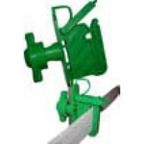 Isolateur VERT sécurisé tous fils et rubans / piquets bois ou bétons (poche de 25)
