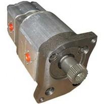 Pompe hydraulique sortie 23.5 + 6cm3 Valtra Valmet séries 6000 et 8000