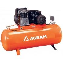 Compresseur pneumatique 5,5cv bi-étagé PRO à courroie - 270L - 40m3/h - 400V-50Hz - 11 Bars