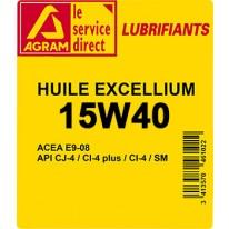 HUILE EXCELLIUM 15W40 BIDON DE 60L
