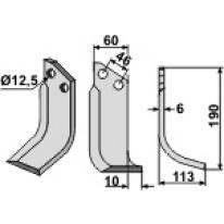 COUTEAU HEL D60X6 12-5 (Droite)