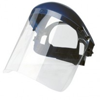 Masque en polycarbonate incolore - Face relevable