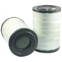 Filtre à air primaire pour chargeur HITACHI ZW 250 moteur ISUZU 2007-> AH6HK1-XYWT-02