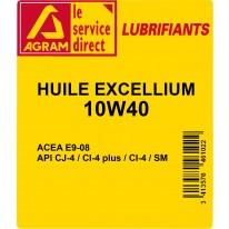 Huile Excellium 10W40 60L