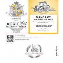 Huile moteur 5W40 MANGA GT 25L