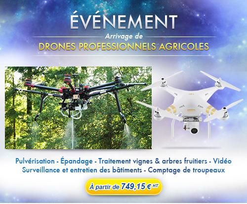 Arrivage de drones agricoles