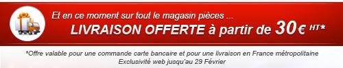 Livraison offerte à partir de 30€ HT pour une livraison en france métropolitaine