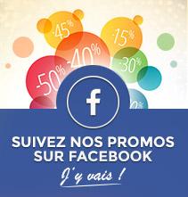 Suivez nos promos sur facebook