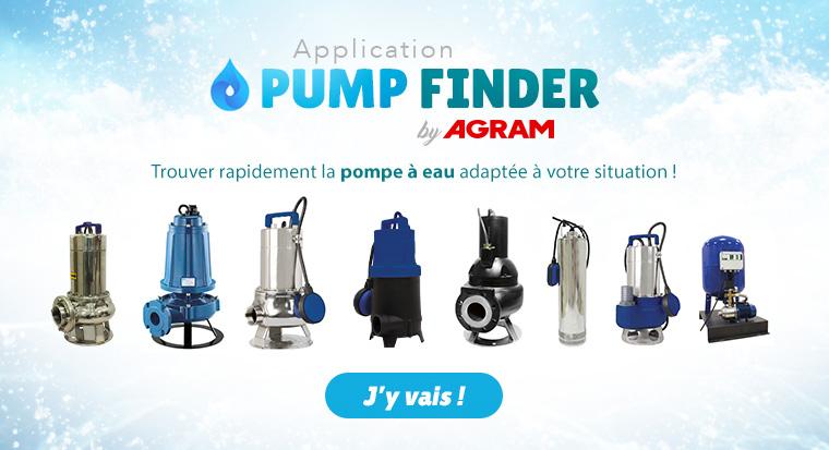 Applicatif pour trouver rapidement la pompe à eau adaptée à votre situation
