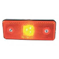 CATADIOPTRE RECTANGULAIRE ORANGE 110X41 A LED