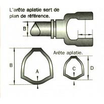MACHOIRE 22x54 INT  TUBE MALE