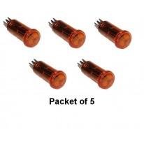 Voyant Orange 12v 13mm Trou - le sachet de 5