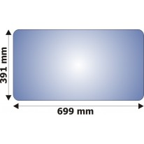 Vitre 391mm x 699 mm pour tractopelle Hymac