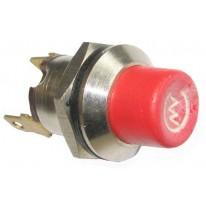 Interrupteur à bouton poussoir rouge M19 en acier