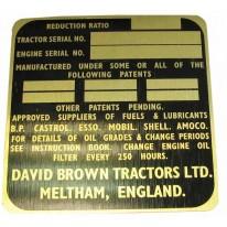 Badge Or David Brown 990