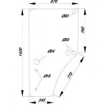 Glace de portière gauche