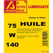 Huile transmission SYNTHE 75W140 - 5L