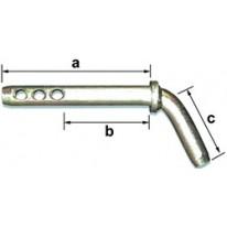 Axe d'attelage coudé diamètre axe 19 mm