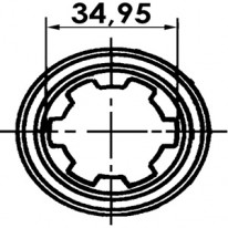 MACHOIRE 1''3/8 6 CANNELURE CR 42   X 104