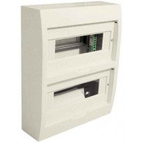 COFFRET 24 MODULES NU SS PORTE BLANC+FIX