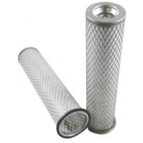 Filtre à air sécurité pour tractopelle JCB 3 DS moteur PERKINS 298604->306000 LD 50096