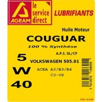 HUILE moteur 5W40 COUGWAR 5L