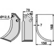 COUTEAU HEL D70X7 12.5 (Droite)