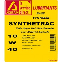 Huile multifonctionnelle 10W40 SYNTHESE 220L
