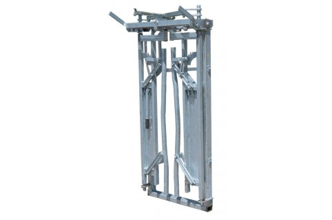 Porte autobloquante pour montage sur couloirs de contention pour bovins laitiers et viandes
