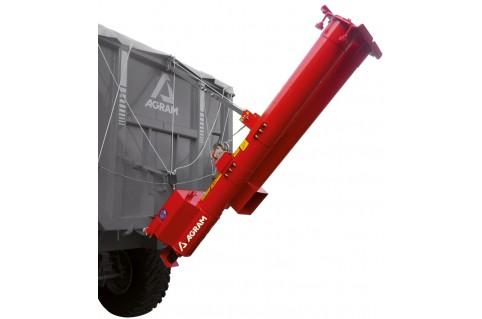 Vis à grain sur remorque hydraulique
