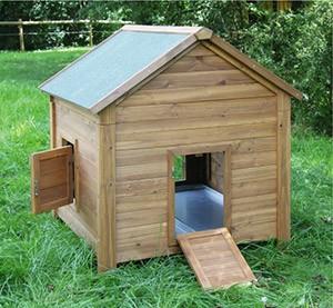 abri bois pour poules et lapins 105 x 100 x 108 cm. Black Bedroom Furniture Sets. Home Design Ideas