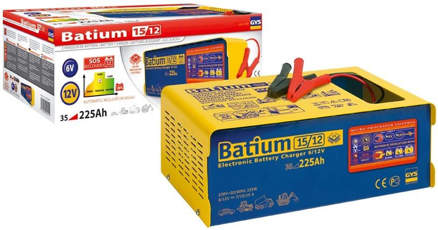chargeur batteries automatique gys batium 6 12v. Black Bedroom Furniture Sets. Home Design Ideas