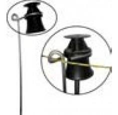 Isolateur tige avec guide fil pour piquet bois, béton ou fer de 12mm