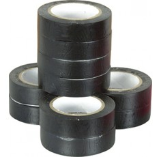 LOT DE 10 RLX PVC ELECTR.15MMX10M NOIR