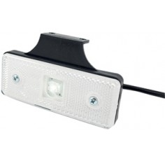 CATADIOPTRE RECTANGULAIRE BLANC 110X41 A LED SUR LANGUETTE