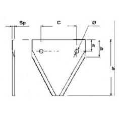 SECTION John Deere / SCHUMACHER 80 mm AZ41727
