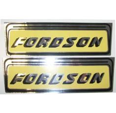 Autocollant Fordson Jaune et Argent