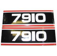 Autocollant Ford 7910 Super Q Cab noir e