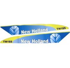 Autocollant New Holland  TM155  Blanc