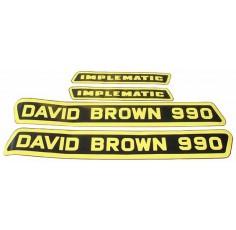 Kit d'autocollants Capot G + D David Brown 990
