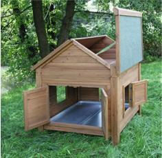 Abri bois pour poules et lapins, 105 x 100 x 108 cm