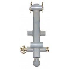 T Bar d'attelage - Crochet et mécanisme de verrouillage
