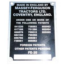 Badge Tracteur - FE 35 Insigne de série