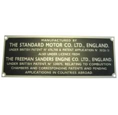 Badge Tracteur 20 D - I.D. Plate - Freeman